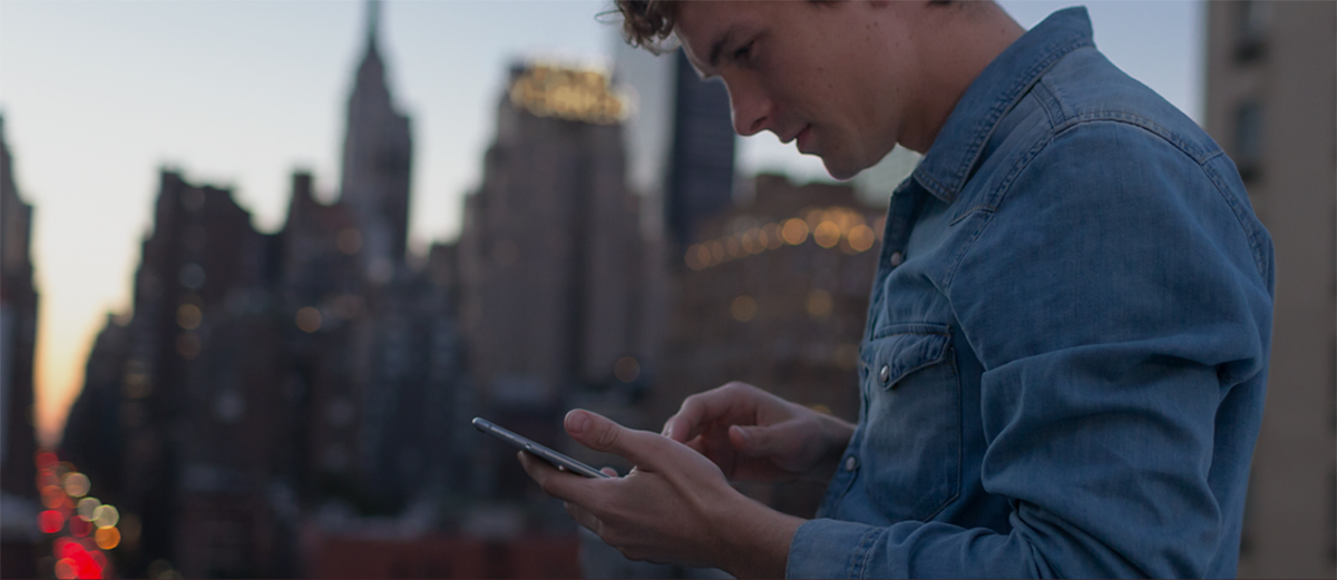 apple iphone outside