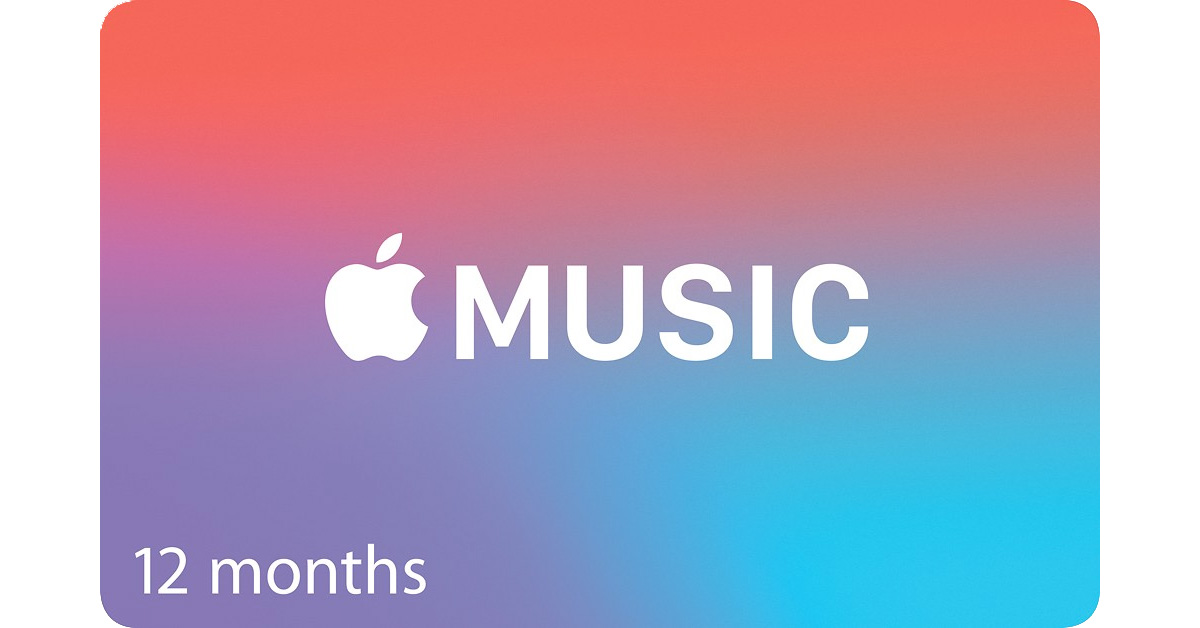 Apple Music annual subscription gift card