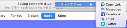 Apple Music Sharing Options