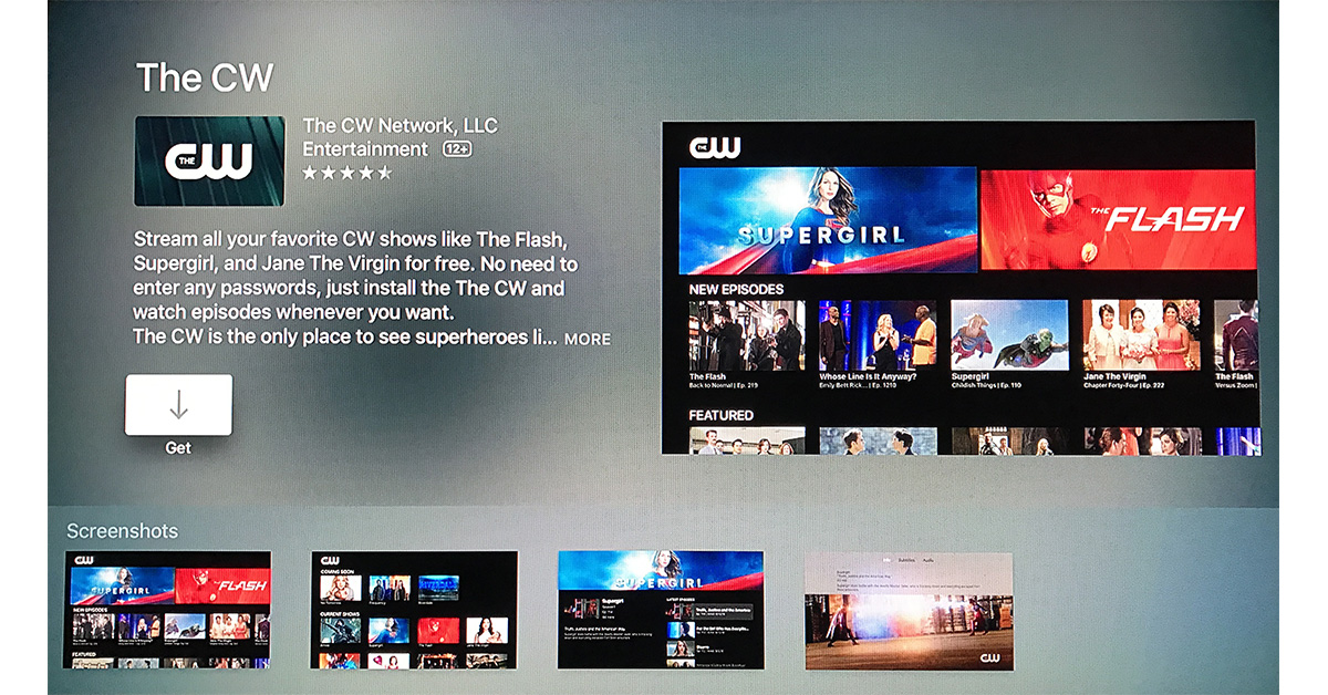 CW app on Apple TV doesn't require cable subscription