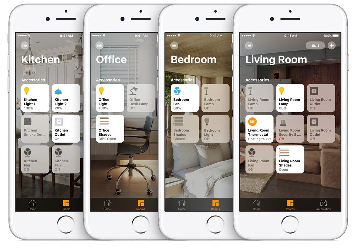 homekit rooms devices