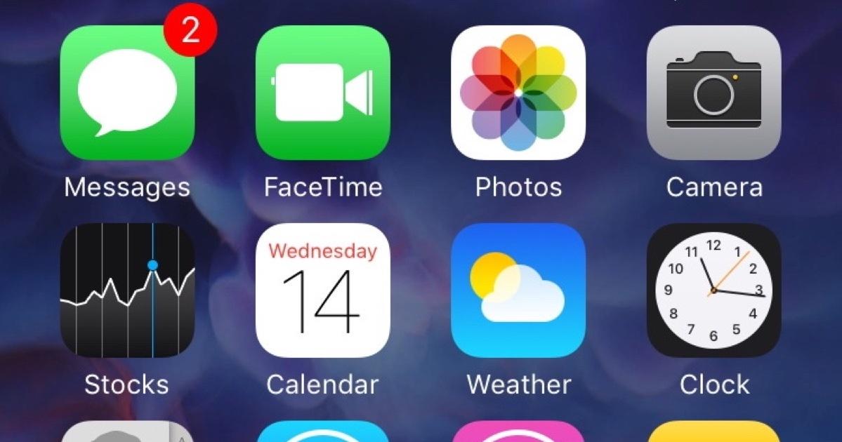 iOS Home screen grid