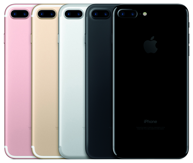 This years iPhone 7 Pluses: Rose Gold, Gold, Silver, Black, and Jet Black