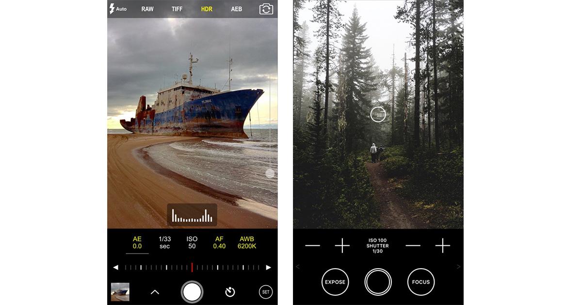 iOS 10 Raw photo apps
