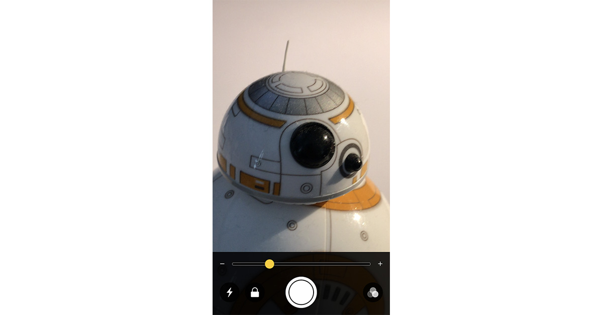 iOS 10 magnifying lens feature in action
