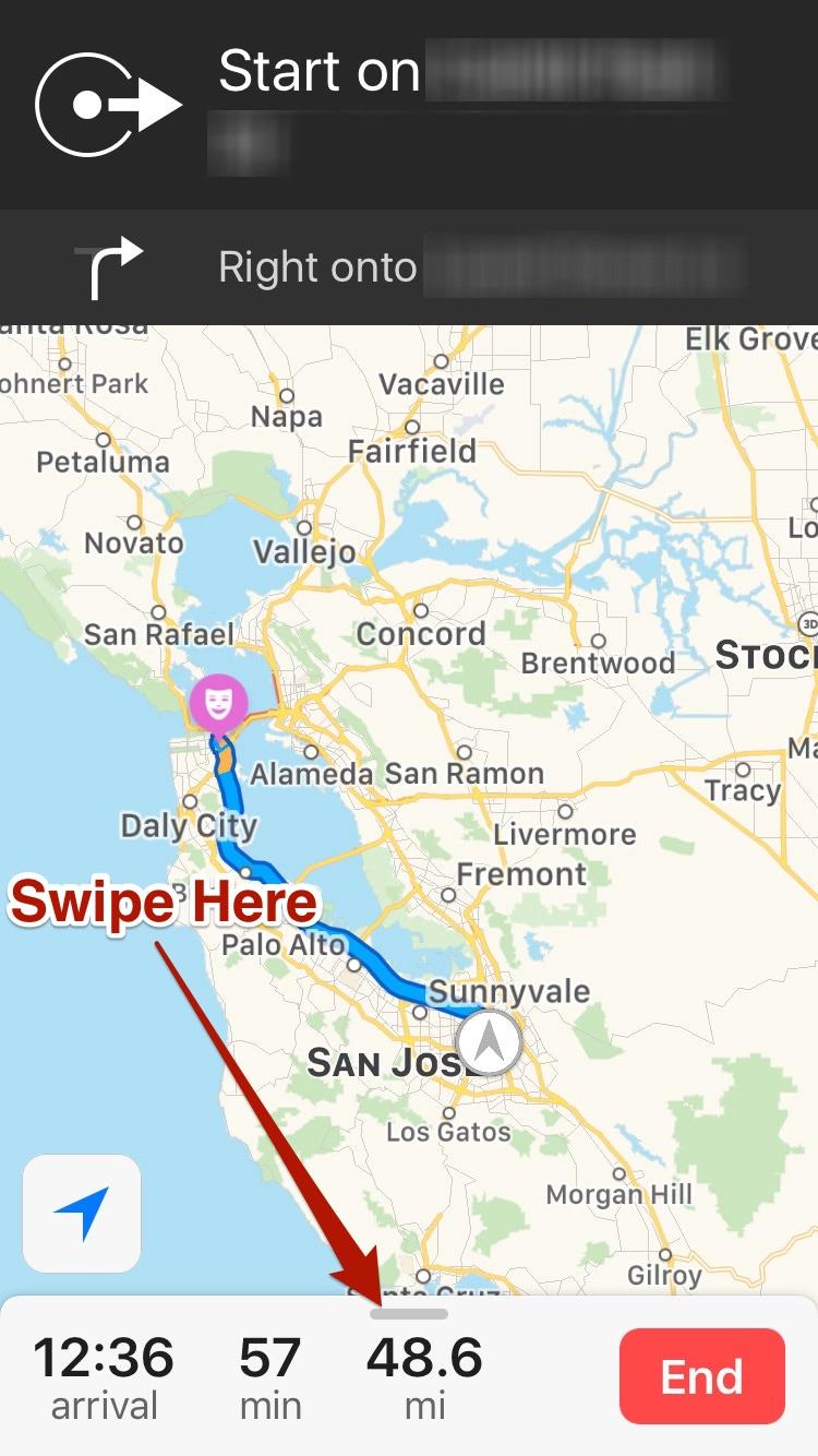 iOS 10 Maps Drawer Stub