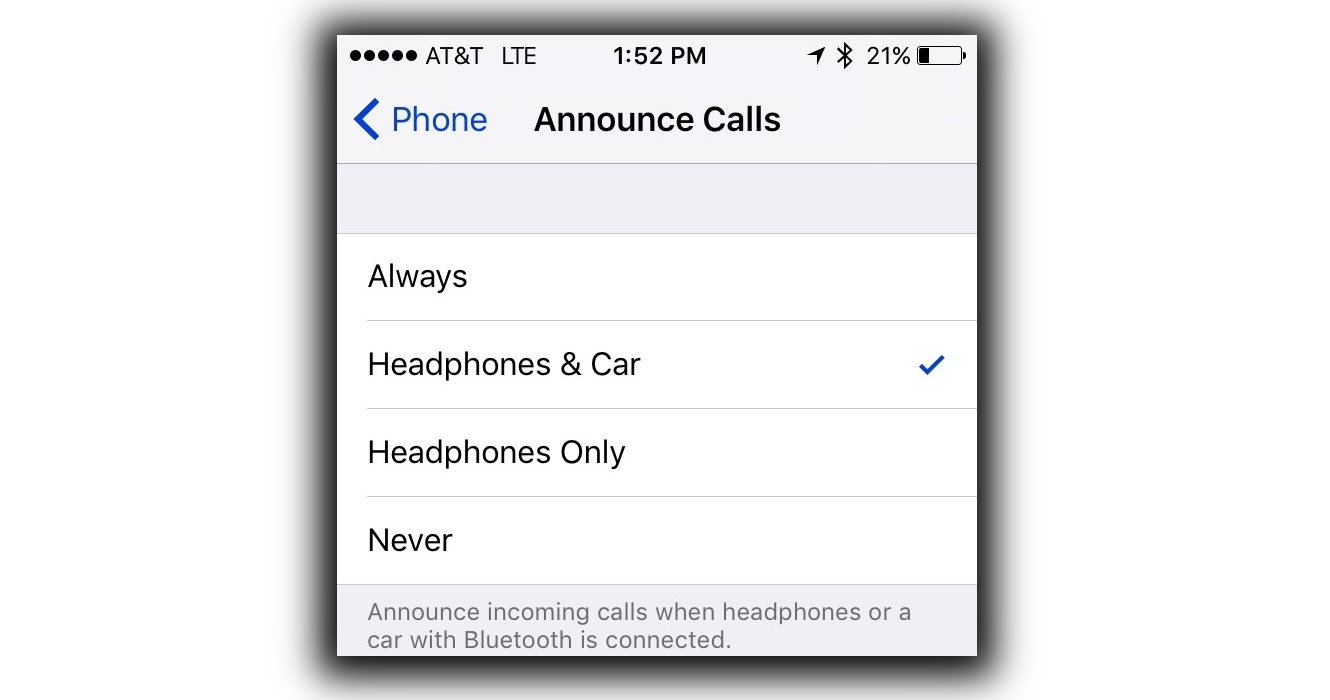 "iOS 10 GM Adds ""Announce Calls"" Feature"