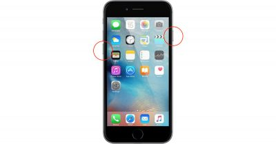 Press the Sleep/Wake and Volume Down buttons together to reboot the iPhone 7 and 7 Plus