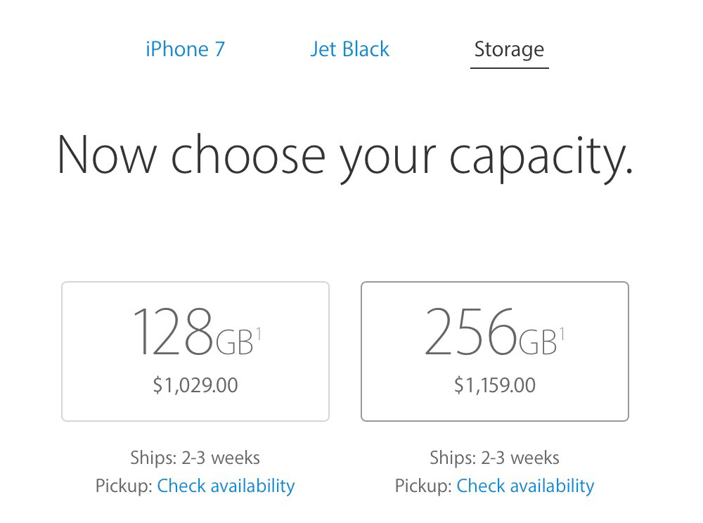 iPhone 7 Jet Black Shipping Time