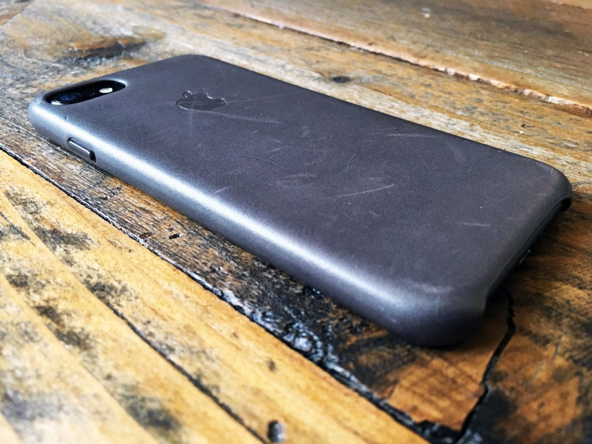 Leather Case for iPhone 7 Back (Storm Gray)