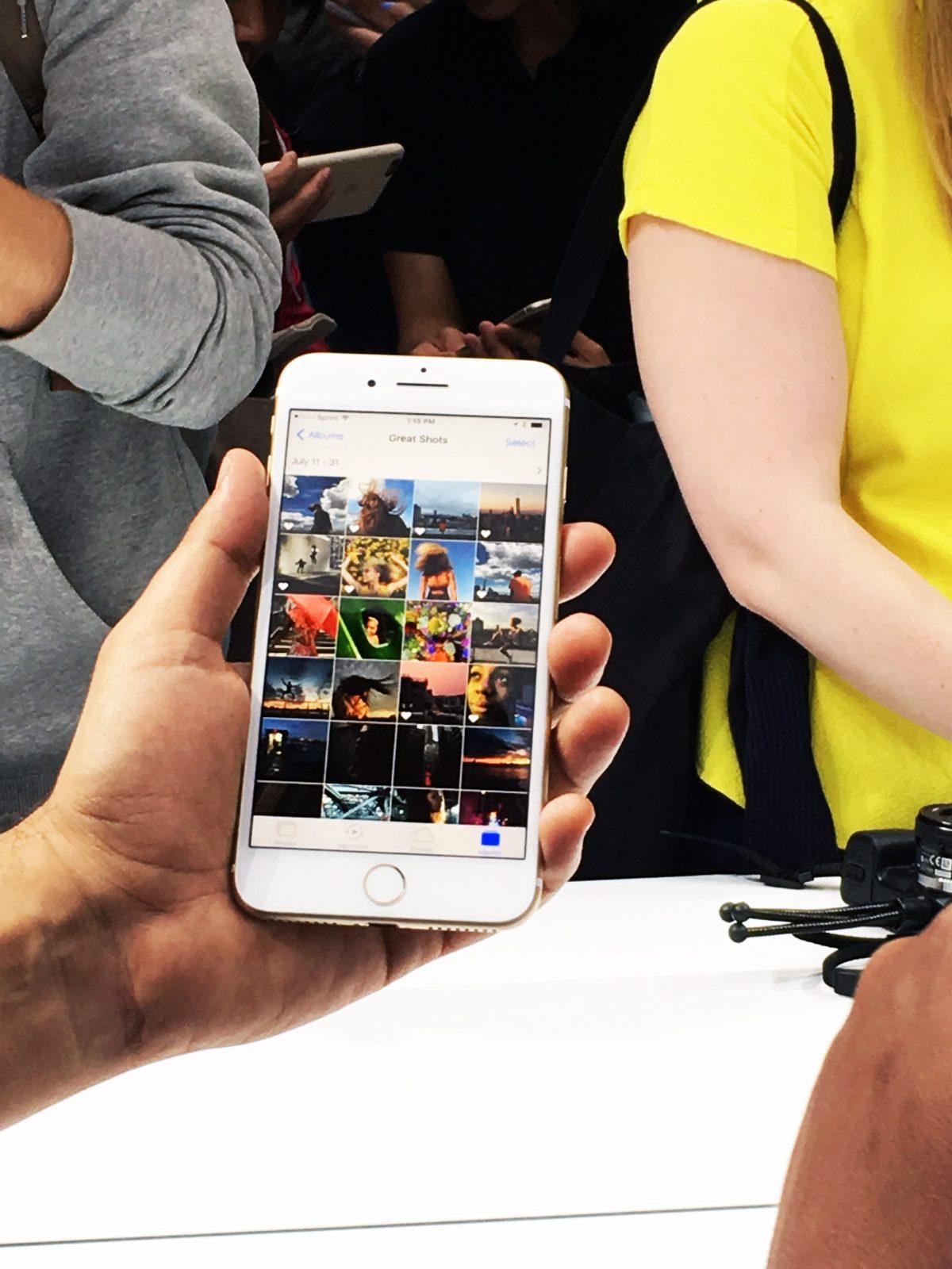 iPhone 7 Plus at Apple Media Event