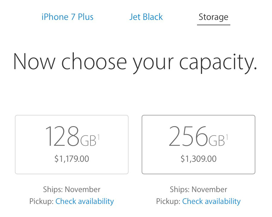 iPhone 7 Plus Jet Black Shipping Time