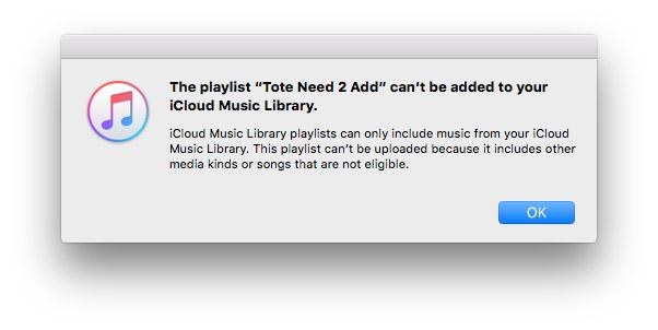 iTunes Music Error