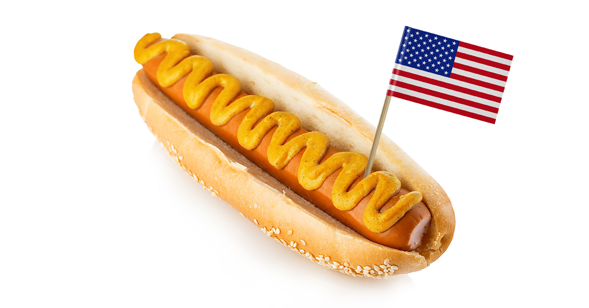 Labor Day hot dog