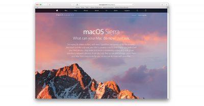 macOS Sierra website