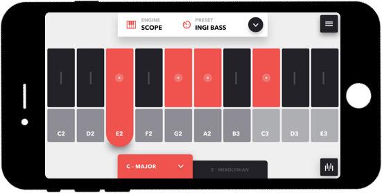 Mogees Keys App Screenshot