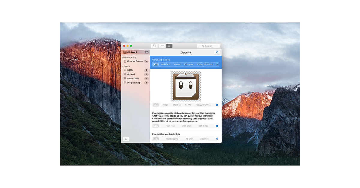 Tapbots Brings Pastebot Clipboard Manager to the Mac