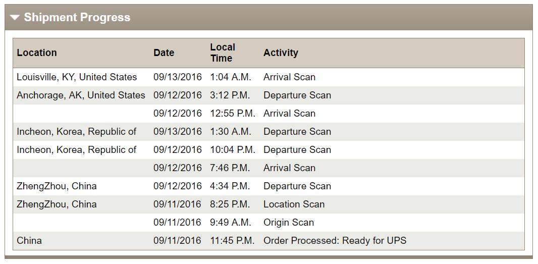 ups tracking info