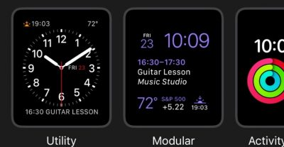 Selected watch faces.