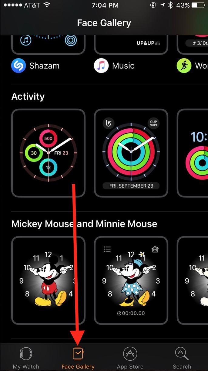 Apple Watch watchOS 3 Watch app Face Gallery