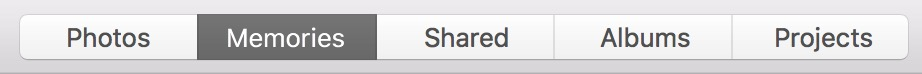 macOS Sierra Photos Memories tab