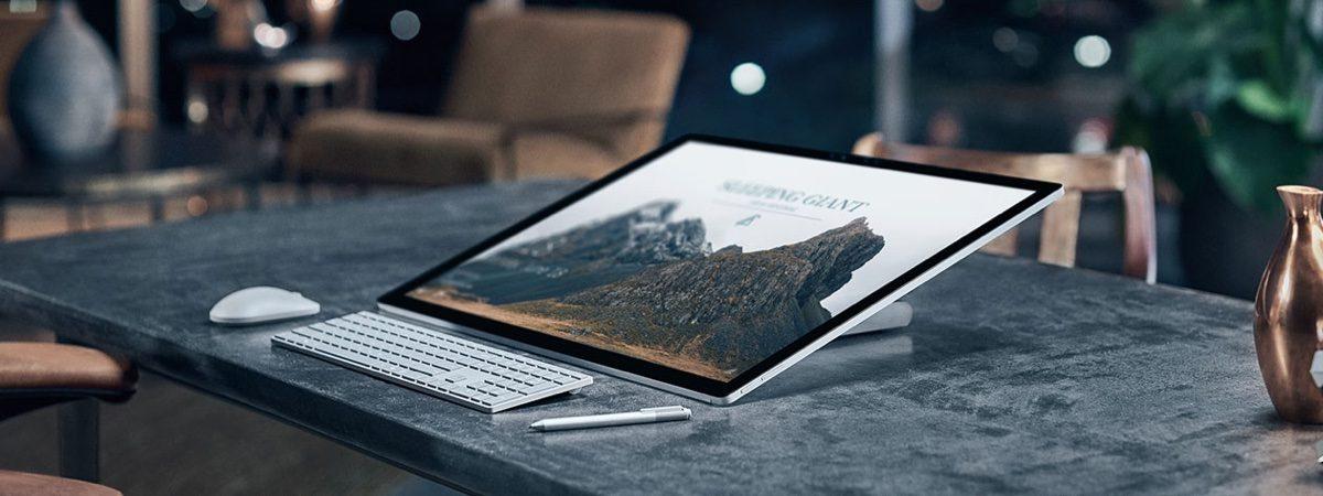 Microsoft Surface Studio.