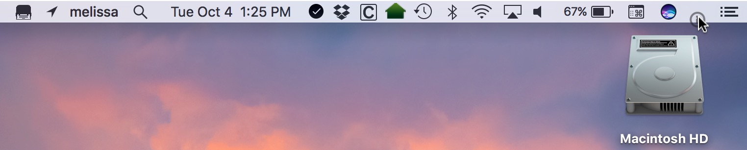 Moving 1Password on macOS Sierra menu bar