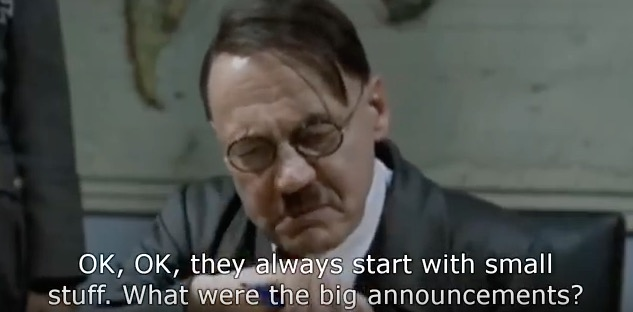 Hitler is Outraged by Apple's 'hello again' Event