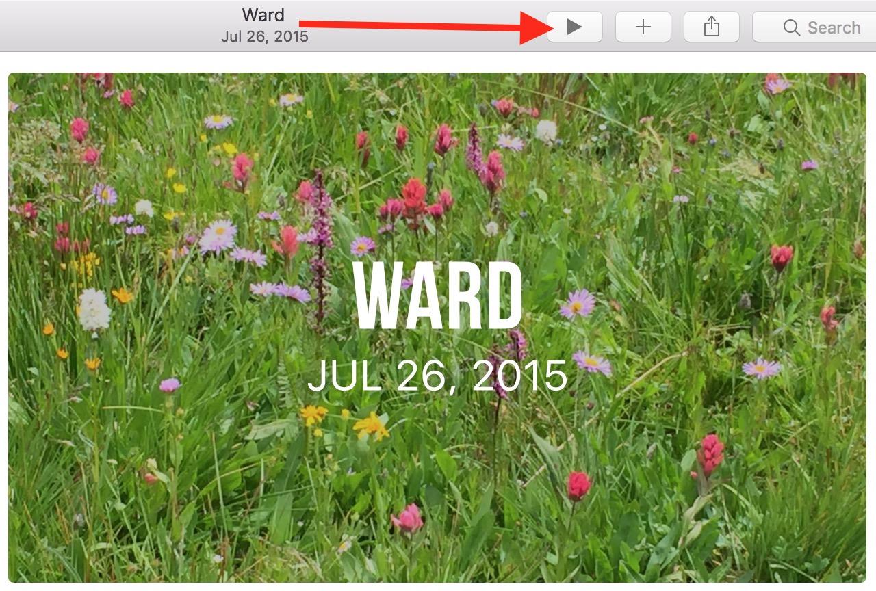macOS Sierra Photos Memories Slideshow