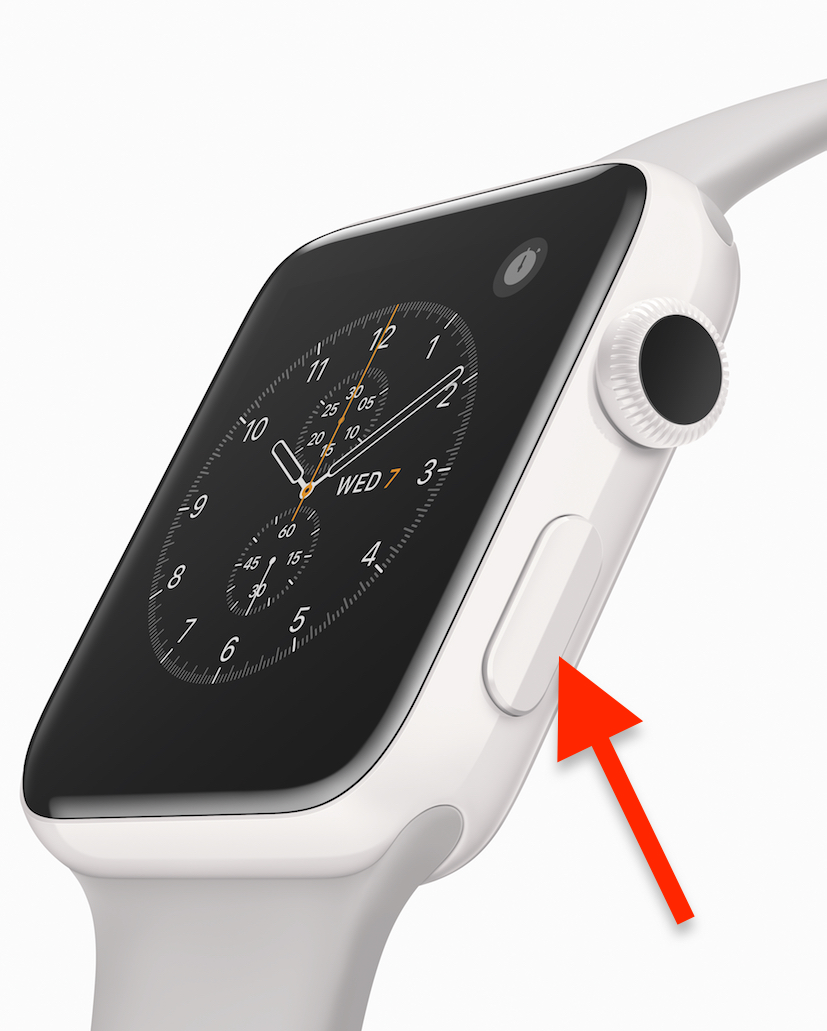 Side Button on Apple Watch can also force quit apps