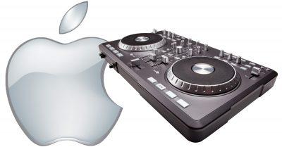 Apple Music and DJ turntable