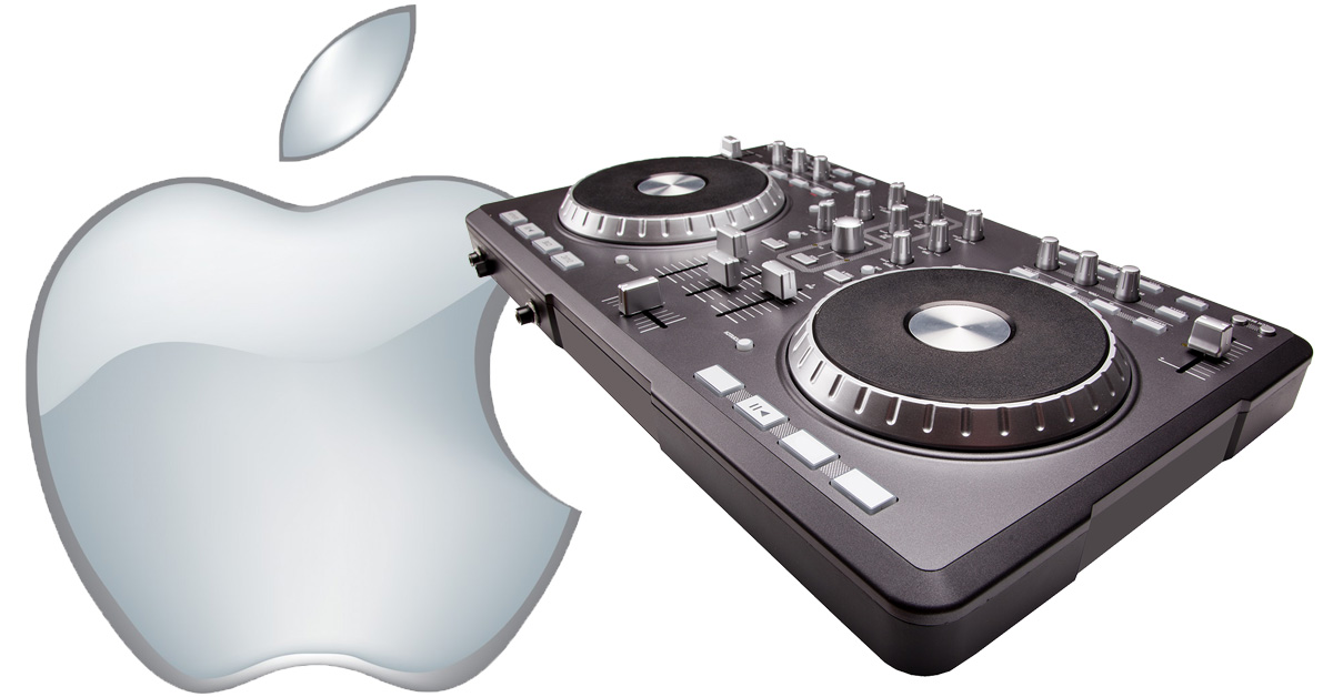 Apple Music and DJ turntable