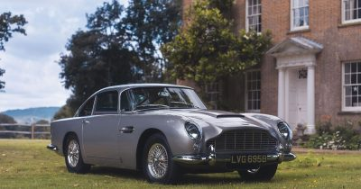 Aston Martin DB5 car bought with Apple Pay