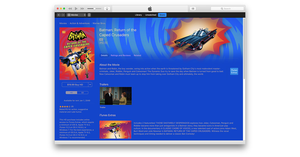 Batman: Return of the Caped Crusaders Swoops onto the iTunes Store