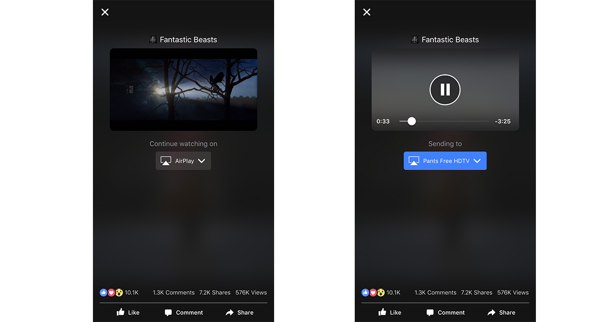 Facebook Video Streaming gets Apple TV Support