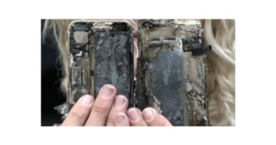 Burned iPhone 7 following car fire