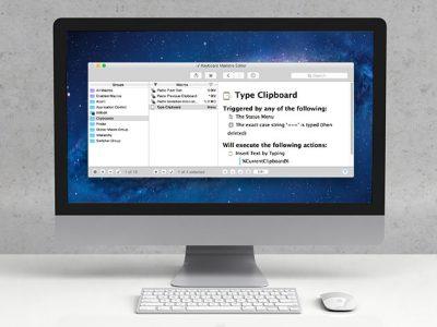 Keyboard Maestro on iMac