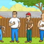 Screenshot from King of the Hill Into done in Pixel Art
