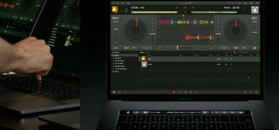 MacBook Pro with Touch Bar DJ demo at