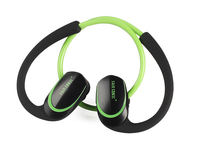 SainSonic Wireless HD Stereo Earphones: $15.99