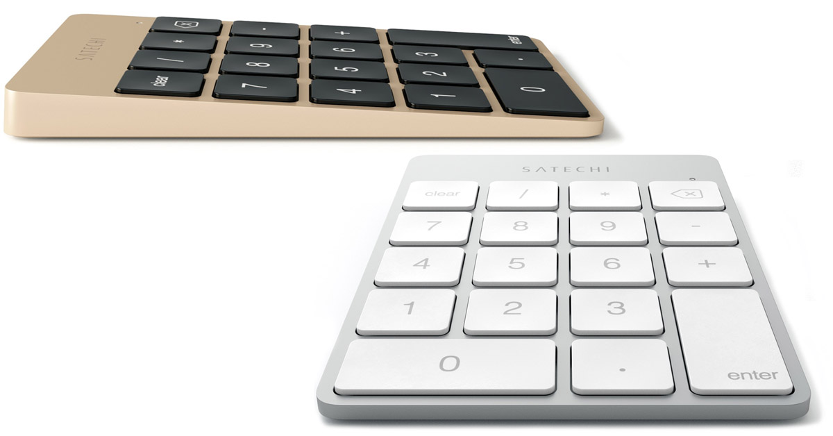Satechi Slim Rechargeable Aluminum Bluetooth Keypads