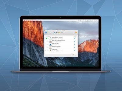 Shimo VPN client running on MacBook
