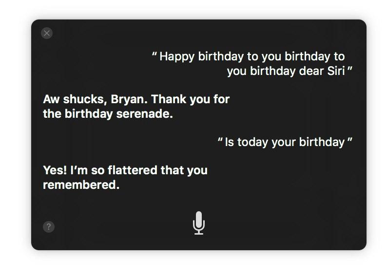 Singing to Siri in macOS Sierra