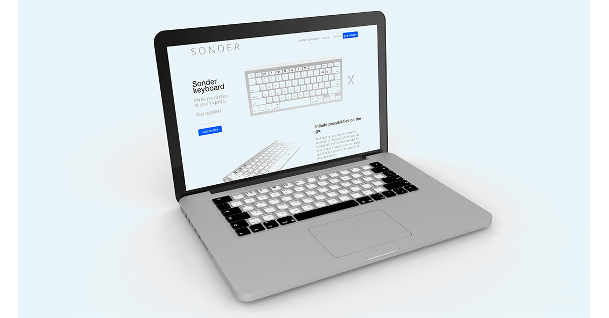 Sonder E Ink keyboard in MacBook Pro