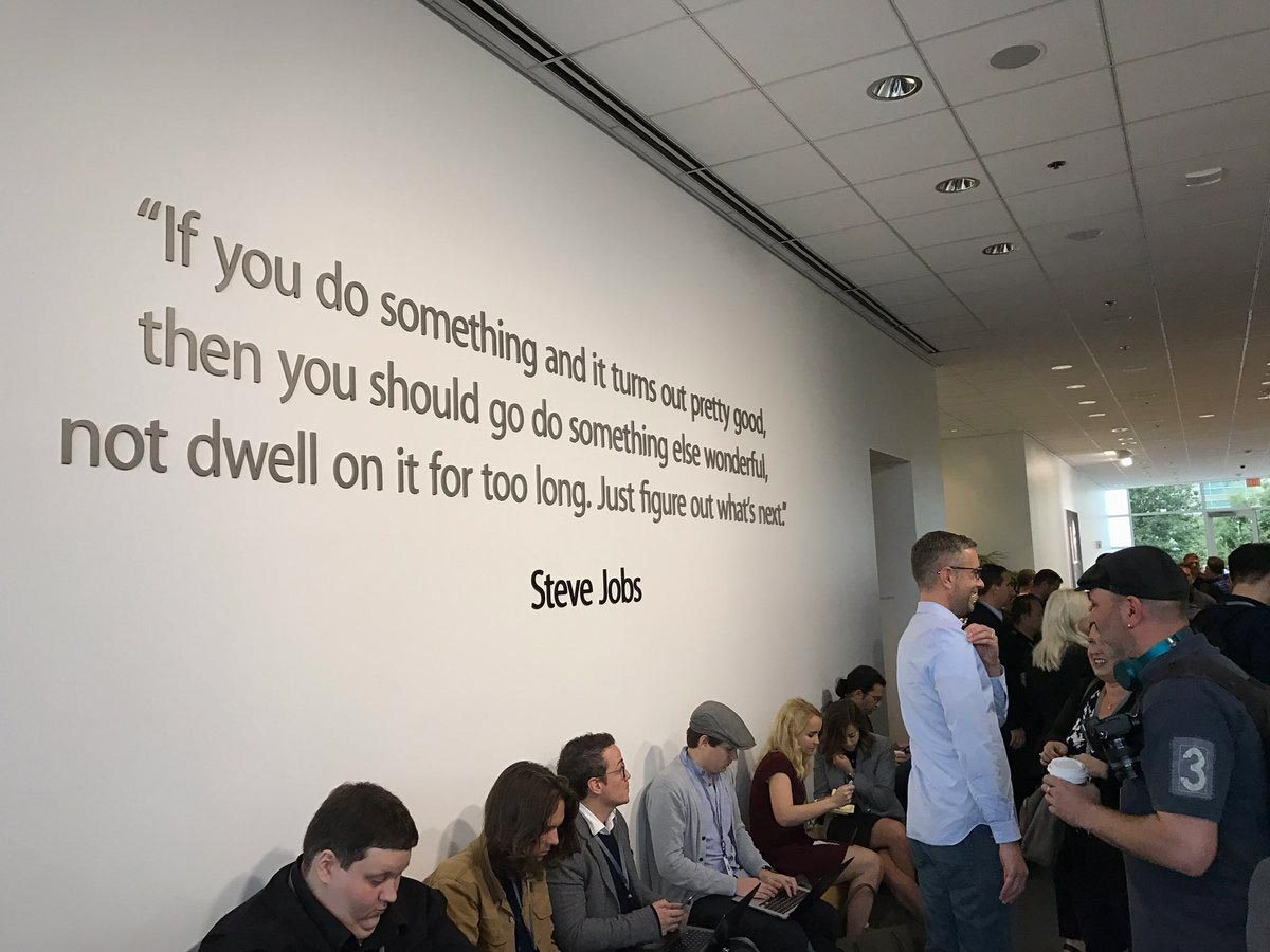 Steve Jobs quote about moving on to something else after creating something great.