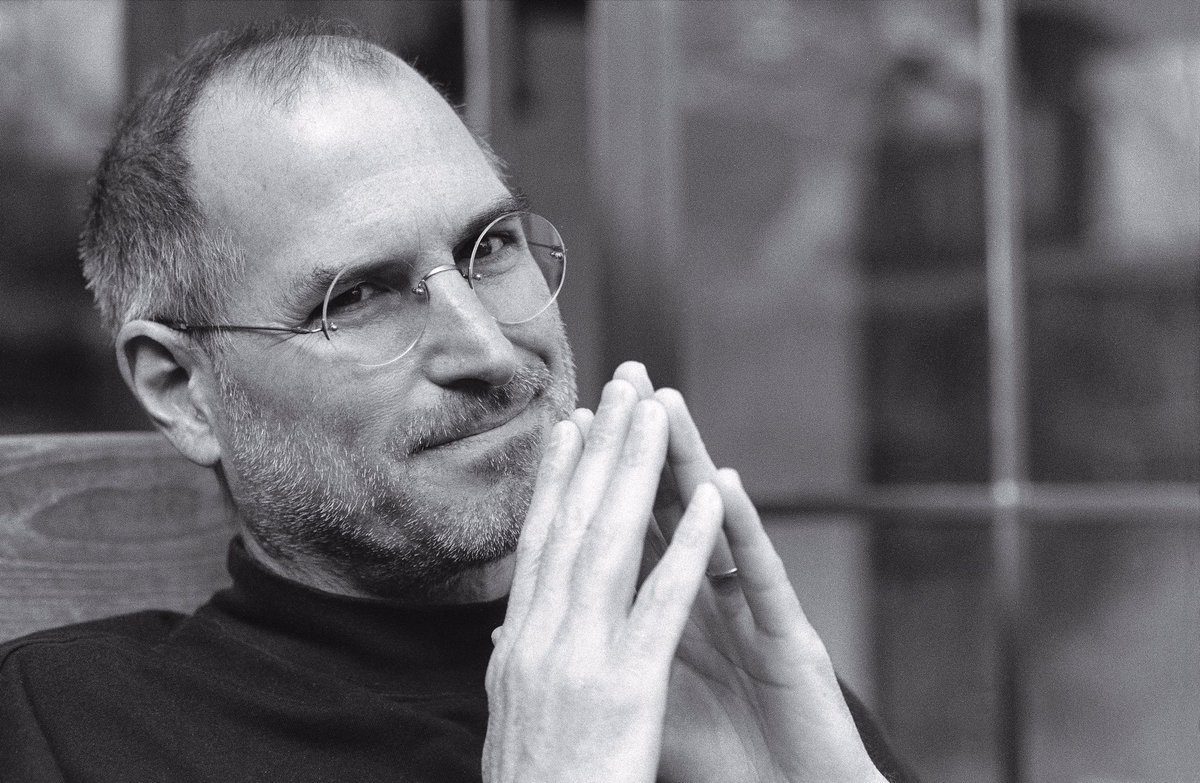 Steve Jobs with Steepled Fingers