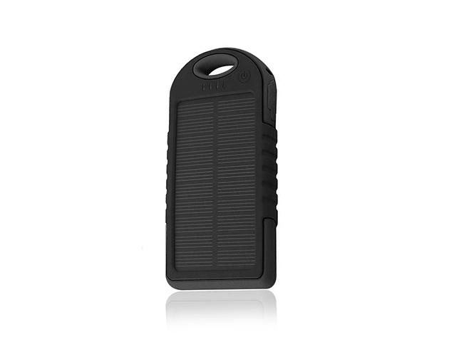 SunVolt Water-Resistant Dual-USB Solar Charger: $19.99