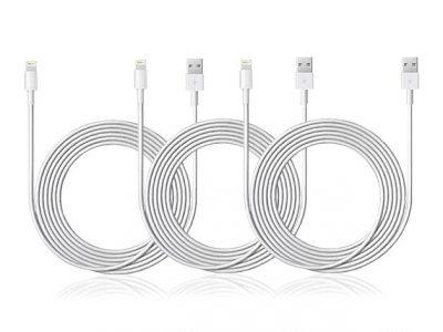 Three 10-Foot Lightning Cables