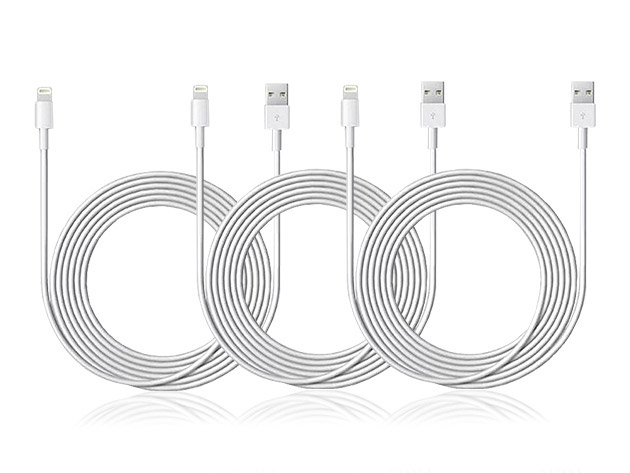 10′ Lightning-to-USB Cable: 3-Pack: $22