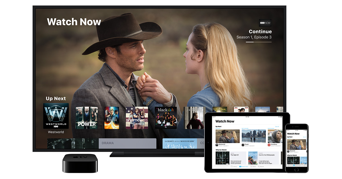 TV app for Apple TV, iPhone, and iPad